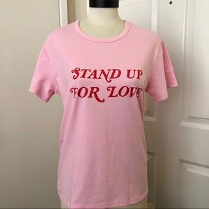 Tops - [NEW] Pink Stand Up for Love Tee